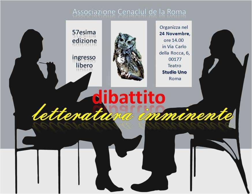 Cenacolo romeno a Roma: dibattito sul futuro imminente della scrittura